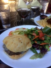 Chef's Burger with Black Sheep Zin