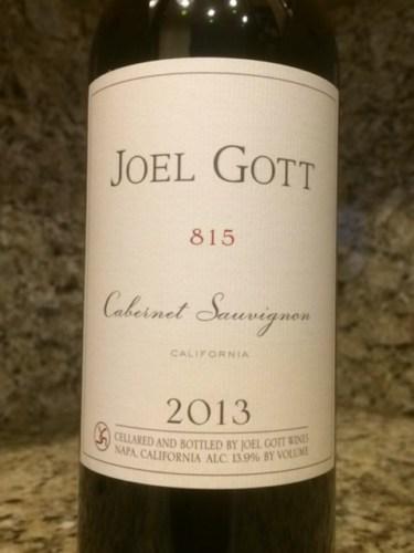 Joel Gott 815 Cab Sauv 2013