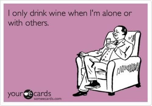 I Only Drink Alone or With Others