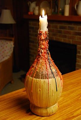 Chianti Bottle Candle