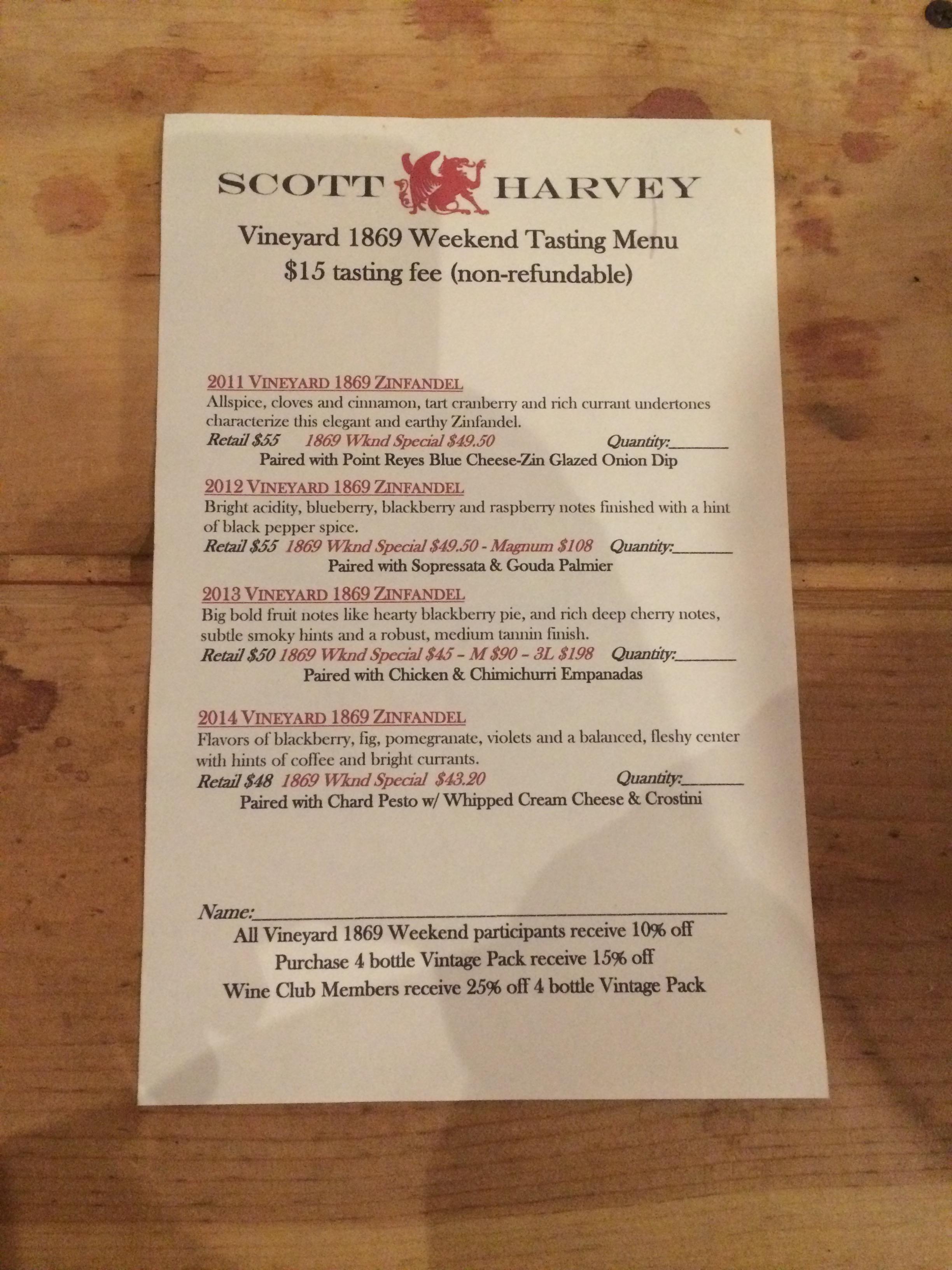 09 Scott Harvey Menu